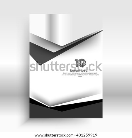 flat layout metallic material corporate background concept design. eps10 vector - stock vector