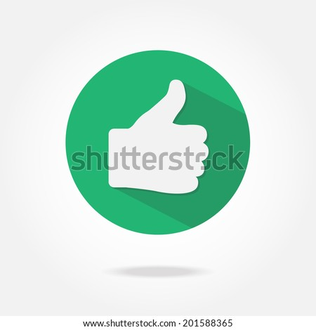 Flat like icon. - stock vector