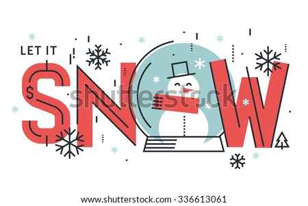 Flat line design seasons concept. Vector illustration for greeting card, website banner and marketing material. - stock vector