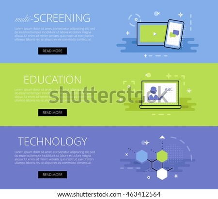Educational Website Banners Property Management Banners