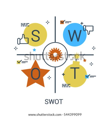 stock-vector-flat-line-infographic-swot-