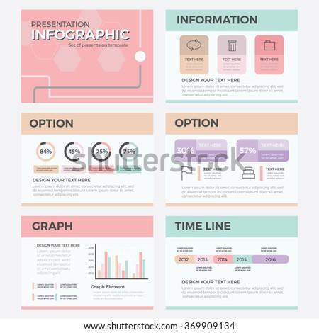 flat line infographics presentation template powerpoint 369909134 shutterstock. Black Bedroom Furniture Sets. Home Design Ideas