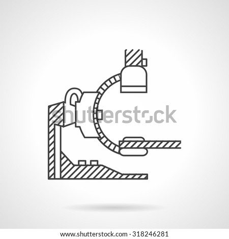 Flat line style vector icon for MRI machine. CT for zonal scanning. Elements of web design for business and website. - stock vector