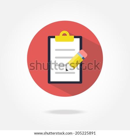Flat list icon. - stock vector
