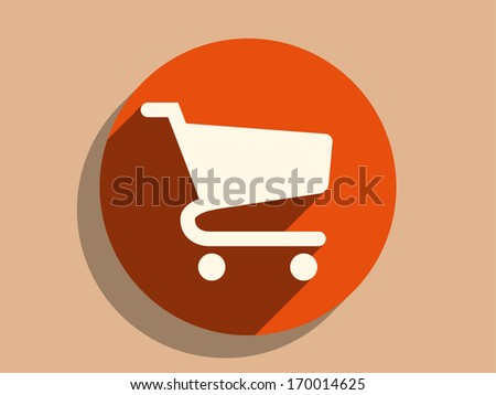 Flat long shadow icon of - stock vector