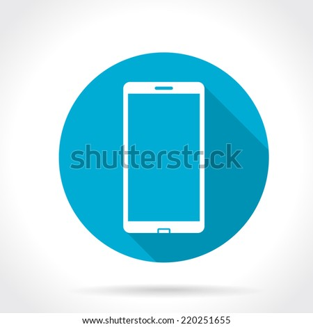 Flat Long Shadow Icon Of Smartphone - stock vector