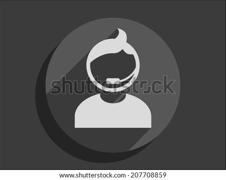 Flat long shadow icon of support - stock vector