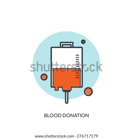 Flat medical background. Health care and first aid, medical research and blood donation. - stock vector