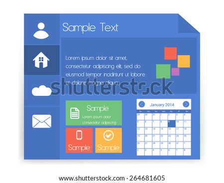 Flat Metro UI Isolated on White - stock vector