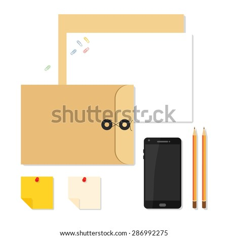 Flat mockups for website design, infographics, web and mobile services and apps.