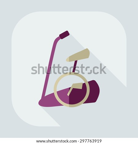 Flat modern design with shadow icon exercise bike - stock vector