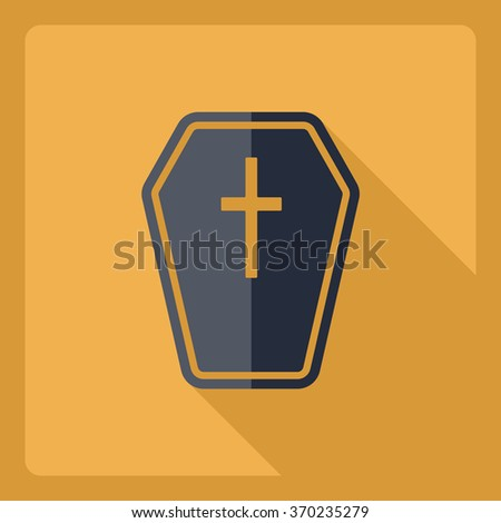 Flat modern design with shadow  Icon grave - stock vector