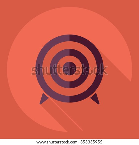 Flat modern design with shadow  Icon target