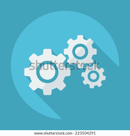 Flat modern design with shadow icons for web design and mobile applications, SEO. search Engine Optimization: gEARS - stock vector