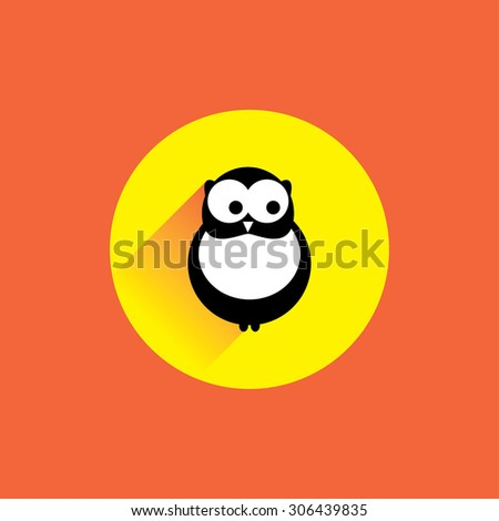 Flat modern design with shadow vector icons: owl