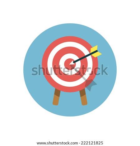 Flat modern vector icon: target. - stock vector