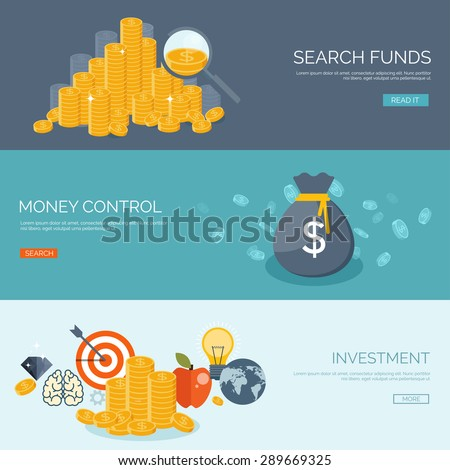 Flat money making background. Business. Wealth and finance. Coins. - stock vector