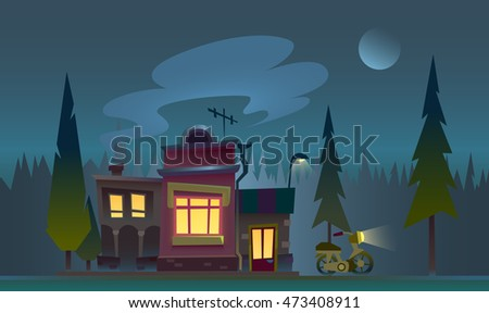 flat night house