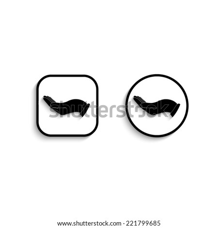 flat of the hand  - vector icon - stock vector