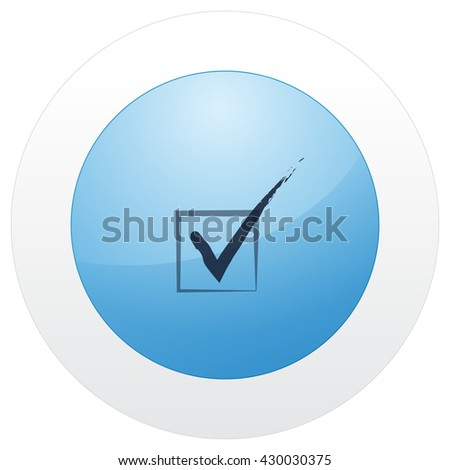 Flat paper cut style icon of check box. Vector illustration - stock vector