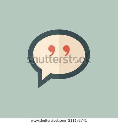 Flat Quote Icon - stock vector