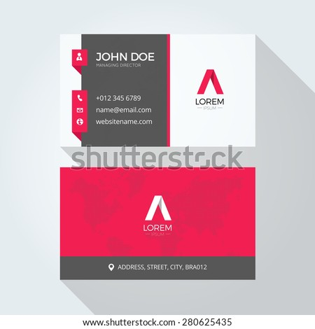E Letter Logo Corporate Business Card Stock Vector - Email business card templates