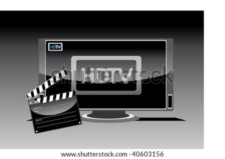 flat screen television - stock vector