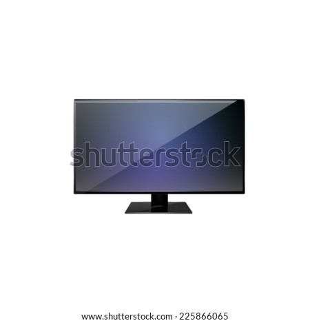 Flat screen TV isolated on white background. - stock vector