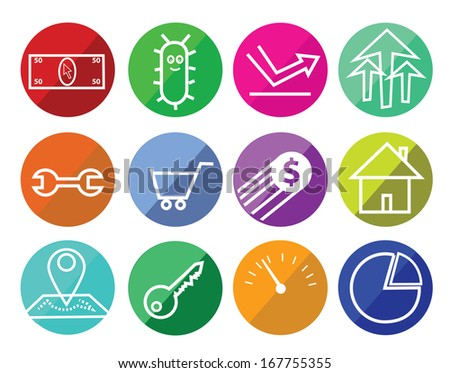 Flat SEO icons - stock vector
