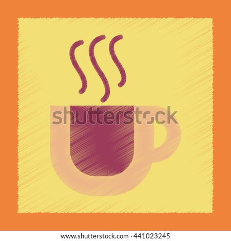 flat shading style icon cup coffee flavor