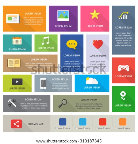 flat shadow design icon interface user infographic concept editable - stock vector