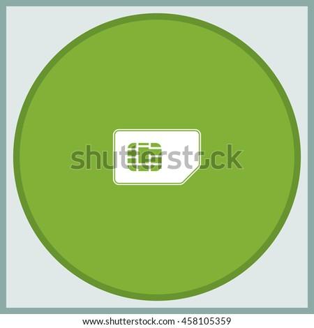Flat sim card illustration. - stock vector