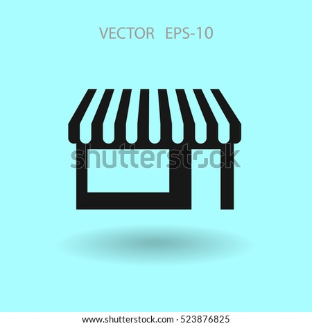 Flat Store icon, vector illustration
