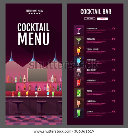 Drink Menu Stock Images, Royalty-Free Images & Vectors | Shutterstock