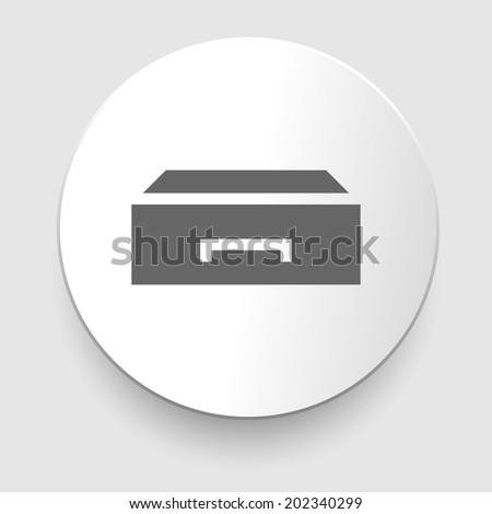 Flat style - drawer vector icon illustration. EPS10 - stock vector