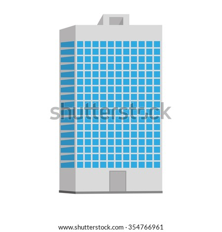 Flat style modern buildings skyscrapers. city design elements. vector isolated house icon