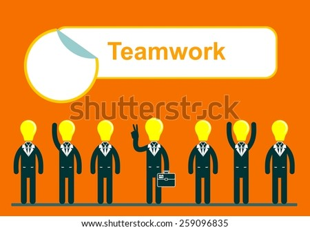 Flat style modern teamwork, workforce, staff infographic template concept. Conceptual web illustration of business people. Leadership, human resource management.Stock Vector illustration Eps10 file.  - stock vector
