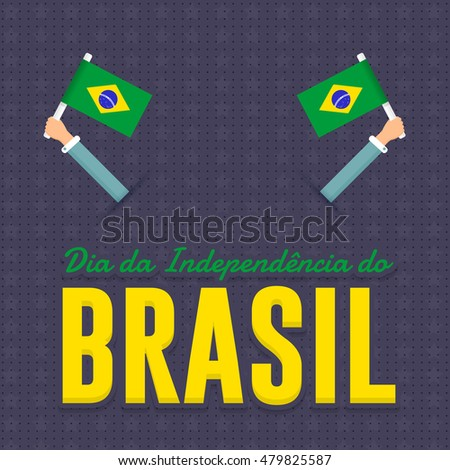 Flat style national greeting card design stock vector 479825587 flat style national greeting card design portuguese text independence day of brazil at m4hsunfo