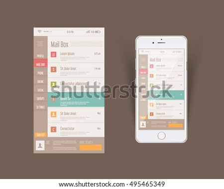 Mobile ui stock images royalty free images vectors for Mobel design software
