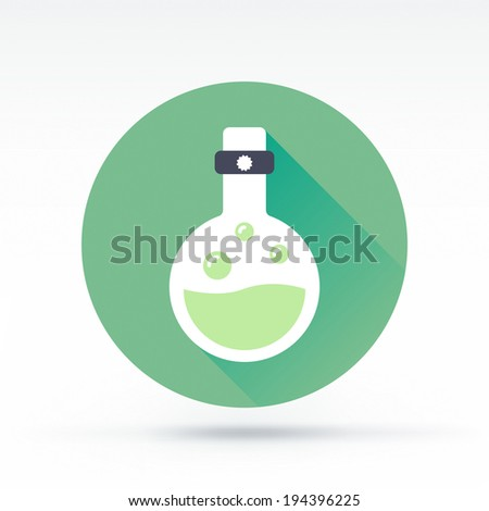 Flat style with long shadows, tubing & testing vector icon illustration. - stock vector