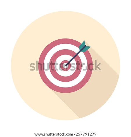 Flat style with target & arrow vector icon illustration. - stock vector