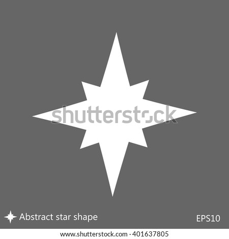 Flat symmetrical star icon. Vector illustration, EPS10.