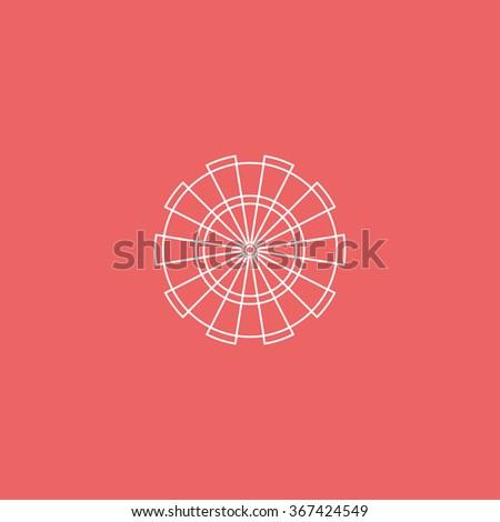 Flat target for darts. - stock vector