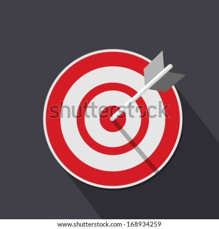 Flat target icon - stock vector