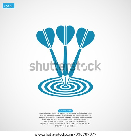 flat target with dart. icon. Vector Eps 10
