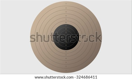 flat template for sport target shooting competition - stock vector