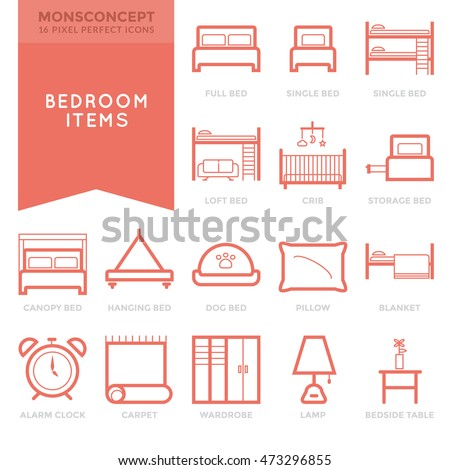 bedroom icon stock images, royalty-free images & vectors