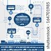 Flat Transportation Infographic Elements plus Icon Set. Vector. - stock vector