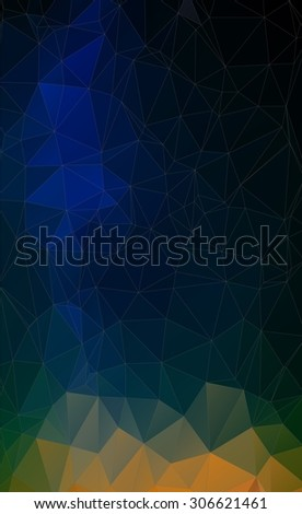 Flat triangle geometric colorful background for web - stock vector