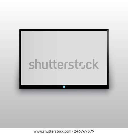 flat TV - stock vector